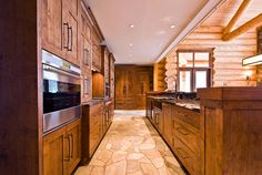 Love these cabinets and style for log home