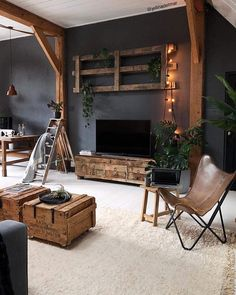 [New] The 10 best interior designs (in the world) Interior Design Apartment Styles Ideas Bohemian… – diy Interior design Living Room Bedroom, Interior Design Living Room, Living Room Designs, Living Room Decor, Kitchen With Living Room, Dark Grey Walls Living Room, Living Room Vintage, Living Room Ideas 2019, Home Room Design