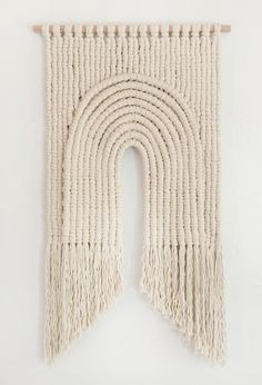 Macrame by Sally England Sacred Arch detail