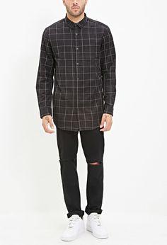Grid-Patterned Shirt