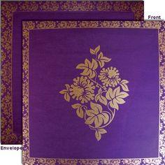 #Muslim #WeddingInvitation in Purple color with goid print. #weddingcards