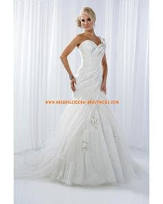 Modische sexy Brautkleider Meerjungfrau aus Satin mit Kapelleschleppe