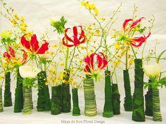 Flesjes omwikkelen met diverse bladsoorten