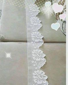 Diy Crafts - Women Vest Cone Pattern New Knitting Design Free Crochet Blanket Border, Crochet Edging Patterns, Crochet Lace Edging, Crochet Leaves, Crochet Borders, Crochet Trim, Easy Crochet, Crochet Doilies, Filet Crochet