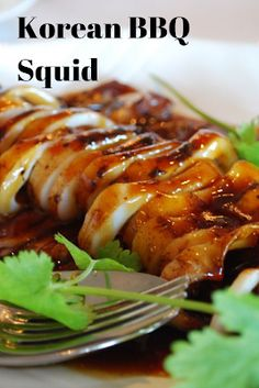 Recipes by Clarissa: Korean BBQ Squid Octopus Recipes, Squid Recipes, Seafood Recipes, Cooking Recipes, Bbq Fish Recipes, Keto Recipes, Korean Dishes, Korean Food, Bbq Squid