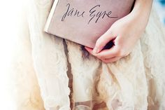 Lovely photo by Candice Lesage Austen of a vintage 1957 copy of Jane Eyre.