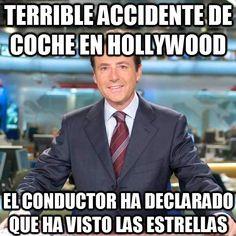 Meme_matias - Terrible accidente de coche en Hollywood