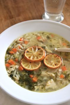 Jenny Steffens Hobick: Lemon Chicken Orzo Soup from Nine and Sixteen