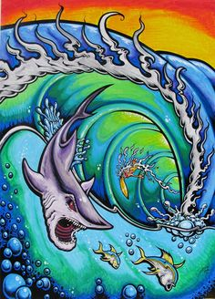 #sharks#fish#barrels