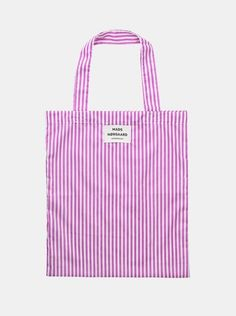 Shop Soft Mix Atoma Tote i Pink/White fra Mads Nørgaard - Spar Pink White, Totes, Reusable Tote Bags, Outfit, Sneakers, Shopping, Outfits, Tennis, Slippers