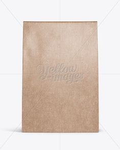 Kraft Paper Bag Mockup – Front View