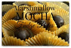 These Marshmallow Mocha Fudge Bites are easy and unique! honeysuckleafternoons.com