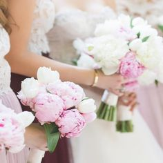 """86 Likes, 5 Comments - K&K Photography (@kandkphoto) on Instagram: """"Pretty in peonies for these bridesmaids ✨ . . . . . . . . . .…"""""""