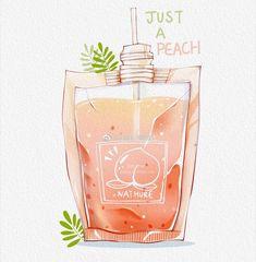 Drawing ilustration design ideas 48 Ideas for 2019 Peach Aesthetic, Aesthetic Anime, Aesthetic Art, Chibi Kawaii, Kawaii Art, Pretty Art, Cute Art, Photowall Ideas, Cute Kawaii Drawings
