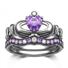 925 sterling silver black gold plated purple cz inlaid engagement ring set https://www.evermarker.com/collections/evermarker-design?pid=925-sterling-silver-black-gold-plated-purple-cz-inlaid-engagement-ring-set&utm_source=Pinterest_Ads&utm_medium=Traffic&utm_campaign=925-sterling-silver-black-gold-plated-purple-cz-inlaid-engagement-ring-set