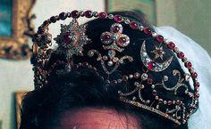 Lady Penelope Mountbatten, wearing her huband's family tiara