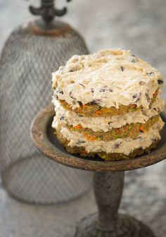 Carrot Zucchini Cake: diced pineapple adds a wonderful sweetness and pop of flavor (high raw, vegan) | JOIN US in the #AmericanKitchen @ www.Pinterest.com /ForevermadeUSA