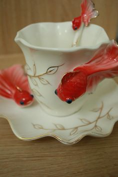 Fishy teacup