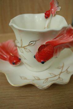 goldfish coffee mug $15.99,  i need this!! i need this!! i need this!!!