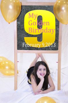 golden birthday invitation - cute