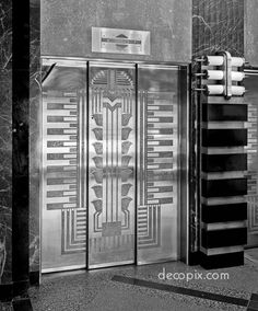 Elevator doors, Niagara Mohawk Power Company, Syracuse, New York