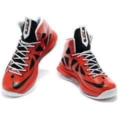 Nike Zoom LeBron 10 X Red/Black/White