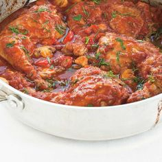 This easy recipe for chicken cacciatore, baked in the oven, is a delicious comfort food classic that the whole family is sure to enjoy! Easy Recipe For Chicken Cacciatore, Cacciatore Recipes, Italian Dishes, Italian Recipes, Turkey Recipes, Chicken Recipes, Quiche Au Brocoli, Chicken Wings Spicy, Fish And Meat