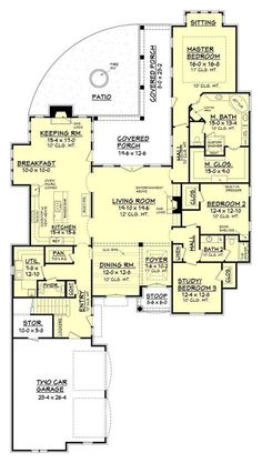 This floor plan has it all (and more)! The efficient and sensible layout provides for a main floor living area of approximately 3,000 square feet with 3 bedrooms and 2 full bathrooms plus an additiona
