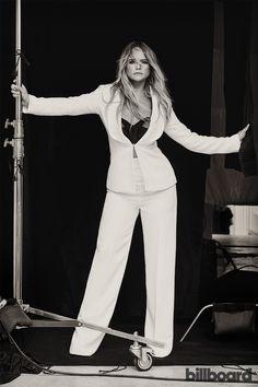 Miranda Lambert photographed June 23 at White Avenue Studio in Nashville. Styling by Tiffany Gifford. Lambert wears a Brandon Maxwell suit, Maidenette bra from New York Vintage, Giuseppe Zanotti shoes, Maxior and Jennifer Fisher rings.