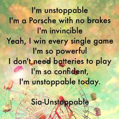 You are unstoppable Sia! Music Sing, My Music, Song Quotes, Life Quotes, Sia Lyrics, Lifetime Quotes, Sia And Maddie, Set Me Free, She Song