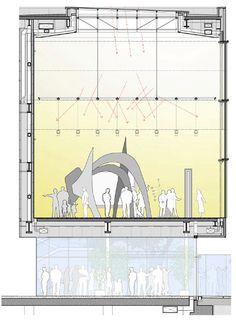 Museo Isabella Stewart Gardner by Renzo Piano Building Workshop en colaboración con Burt, Hill / Boston, Massachusetts USA Revit Architecture, Green Architecture, Architecture Drawings, Concept Architecture, Architecture Details, Renzo Piano, Section Drawing, Piano Art, Plan Sketch