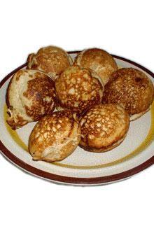 Happy National Pancake Day!  Celebrate with sweet, mildly spiced Danish Banana Pancake Balls.  So good!