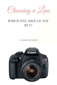 Which DSLR Camera Lens should you buy next?   For: newborn, maternity, wedding, portrait, family, children photographers  Tips: Tools, tips, techniques, how-tos, and guides to help you grow into a better photographer and business  Join us at http://flourish.academy for more!