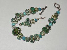 turquoise bracelet & earrings