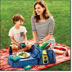 Cooler with a pop up table. Avon Living