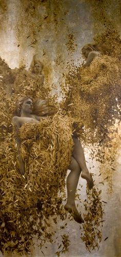 Oil and gold leaf, Brad Kunkle