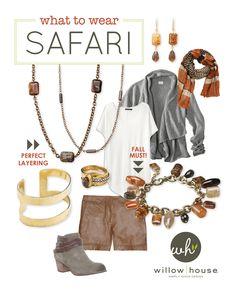 Fall Fashion Find: Safari Collection ~ my favorite season!!  Sara Blaine bling too. denisecarlin.willowhouse.com