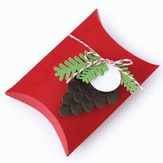 Silhouette Design Store - View Design #52831: pinecone and bough pillow box
