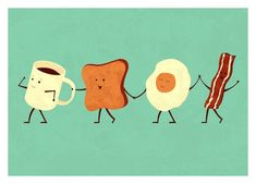 Let's All Go And Have Breakfast Print from Tei Zirinis - BlogAndBuySale