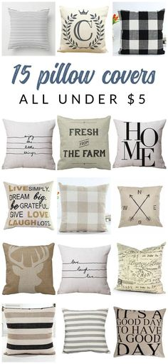 Shop affordable neutral and farmhouse pillow covers – these budget-friendly  buys are perfect for 28ea874fe