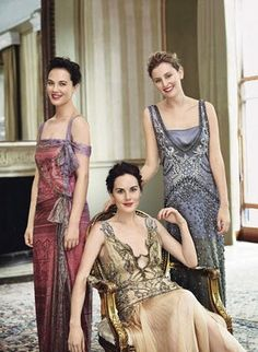 The ladies of Downton Abby looking quite lovely indeed.