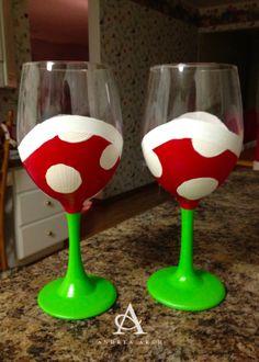 DIY: Mario Piranha Plant Wine Glasses