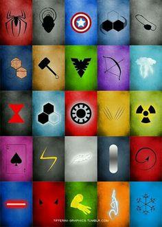 Minimalist Marvel poster art