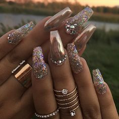 See this Instagram photo by @vanessa_nailz • 6,360 likes #GlitterNails