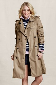 classic trench. In a color I don't yet have. #landsendcanvas