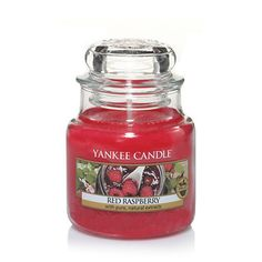 Small Jar Candle - Tangy sweet and full of nature's goodness, there is nothing quite as delicious as ripe, rosy red raspberries.
