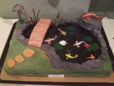Image result for cake pond water