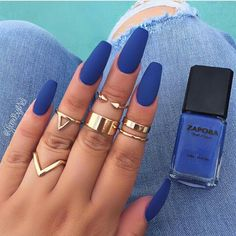 "Summer Time Flyness! ✈✈ Starring our ""DENIM DIVA"" Nail Lacquer + MATTE Top Coat - SHOP www.shopzapora.com"