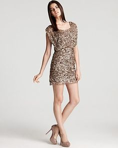 Aidan Mattox Beaded Dress - Blouson Sequin - Homecoming - Dresses - Apparel - Women's - Bloomingdale's