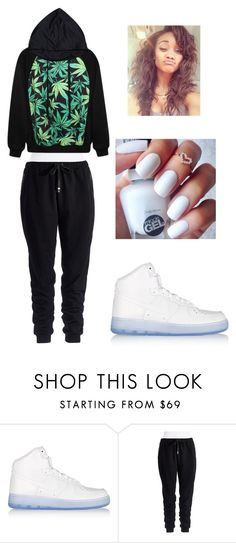 """""""Lazy"""" by lexiswagg on Polyvore featuring NIKE and Two by Vince Camuto"""